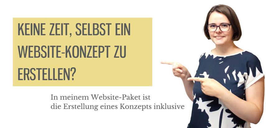 Keine Zeit, selbst ein Website-Konzept zu erstellen? Dann buche jetzt mein Website-Paket!